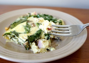 Egg Ham and Spinach Breakfast Casserole Recipe