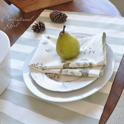 Reversible Cloth Place Mats and Napkins