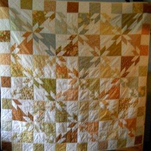 Golden Hunter's Star Quilt | FaveQuilts.com : hunter star quilt pattern - Adamdwight.com