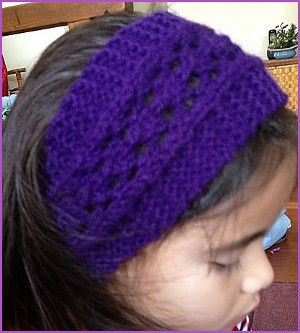 Easy Lace Headband AllFreeKnitting.com
