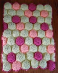 Hexa-Puff Crochet Baby Quilt | AllFreeCrochetAfghanPatterns.com : puff baby quilt - Adamdwight.com