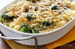 Light Chicken and Broccoli Noodle Casserole