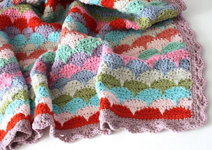 Clamshell Crochet Afghan Allfreecrochetafghanpatterns