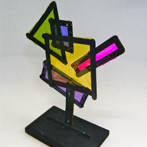 Neon Dimensional Shape Sculpture