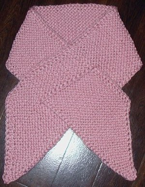 Knitting Patterns Ribbon Scarves : Pink Ribbon Scarf AllFreeKnitting.com