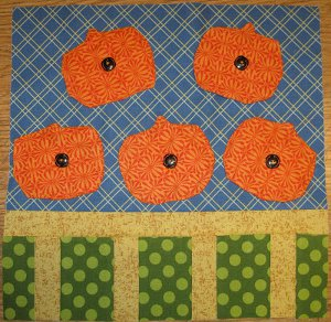 Pumpkin Patch Quilt Block