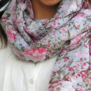 Floral Scarf from Dress