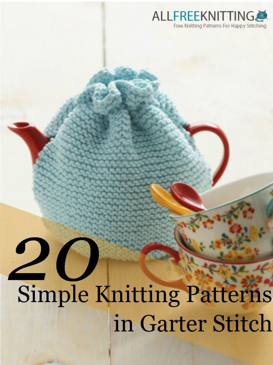 20 Simple Knitting Patterns in Garter Stitch + 5 New ...