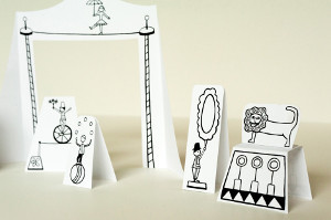 Printable Paper Circus with Animals