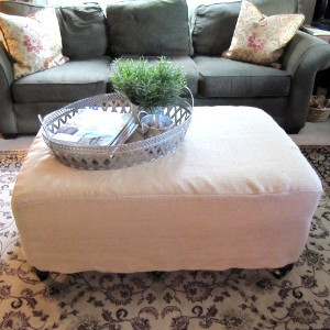 DIY Ottoman Slipcover | AllFreeSewing.com