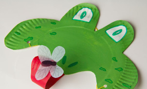 Hoppity Paper Plate Frog Mask : frog paper plate - pezcame.com