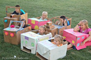 Creative Cardboard Box Cars