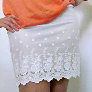 Easiest Lace Skirt Ever