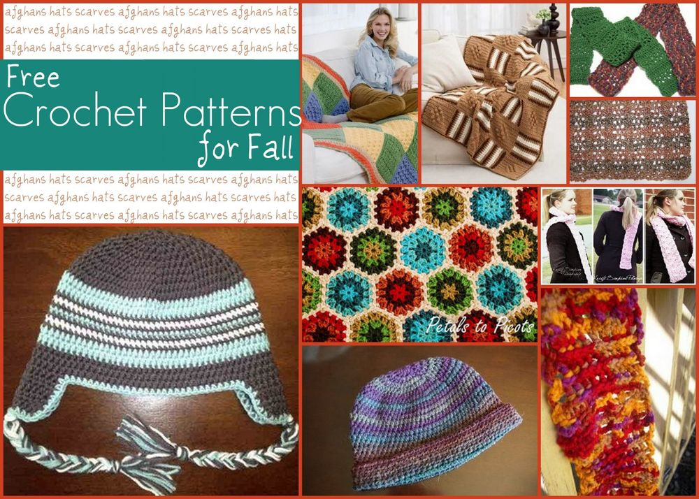 12 Crochet Patterns For Fall Hats Scarves And Afghans