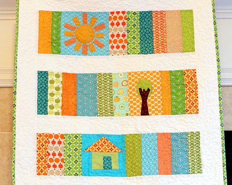 Sunshine Slice of Life Baby Quilt | FaveQuilts.com