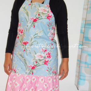 Ruffled Floral Apron