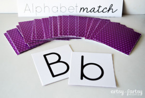 Printable Alphabet Match Game