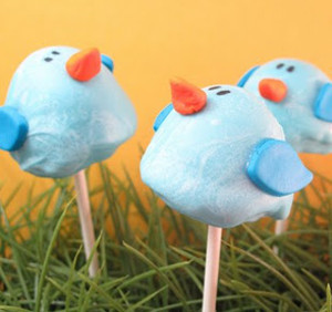 Bluebird Brownie Pops