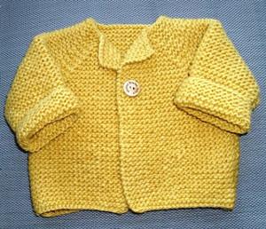 Garter Stitch Baby Cardigan Allfreeknitting Com