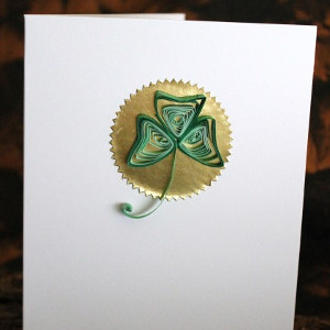 Quilled Shamrock Card