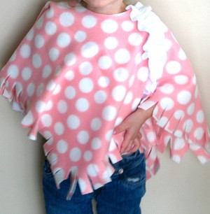 Fall Fleece Poncho