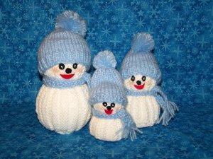 Knit Snowman Family FaveCrafts
