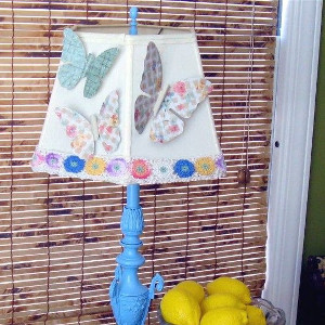 Fluttering Butterfly Lampshade Redo