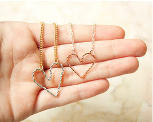 Entwined Hearts Necklace and Bracelet