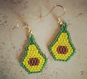 Beaded Avocado Earrings Allfreejewelrymaking Com