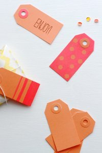 Neon Colors Gift Tags
