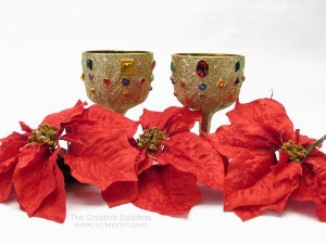 Thrifty Glitzy Christmas Containers