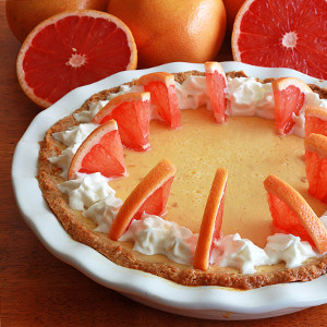 Heavenly Pink Grapefruit Cream Pie
