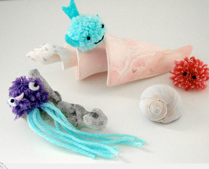Precious Pom Pom Sea Creatures Craft