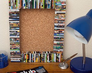 Recycled Magazine Cork Board