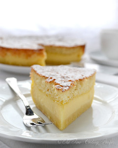 Grandmas Magic Custard Cake
