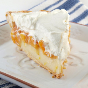Pleasing Peach Cream Pie