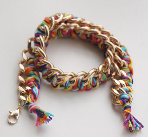 Rainbow Chains Wrapped Bracelet