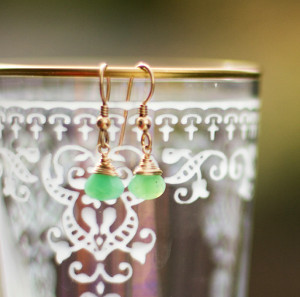 Sea-Green Briolette Earrings
