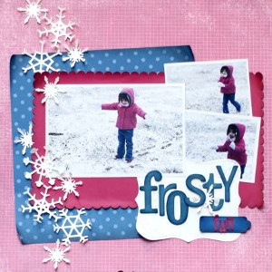 Frosty Fun Scrapbook Layout
