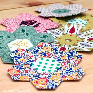 English Paper Piecing Hexies Part 2