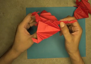Origami Flappy Fire Dragon