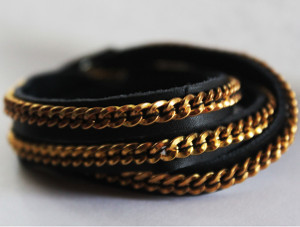 Updated Leather Wrap Bracelet