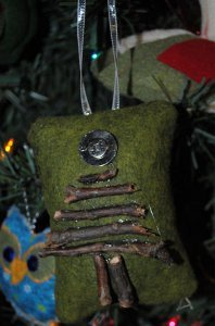 Rustic Sticks Christmas Tree Pillow