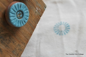 Button Stamping Table Runner