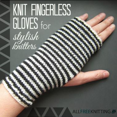 30 Knit Fingerless Gloves for Stylish Knitters | AllFreeKnitting.com