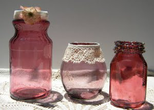 Dyed Glass Mason Jars