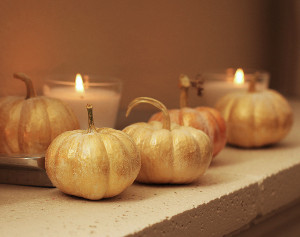 Gorgeous Golden Glitter Pumpkins