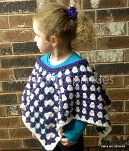 Pretty Purple Poncho