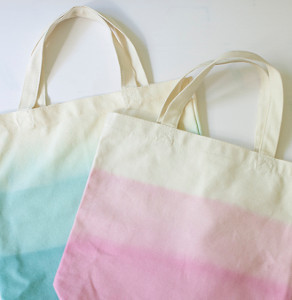 Dip Dyed Canvas Totes