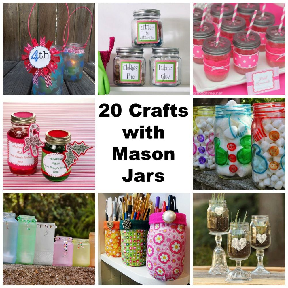 20 Crafts with Mason Jars: Wedding Ideas, Centerpieces, Decor and More ...